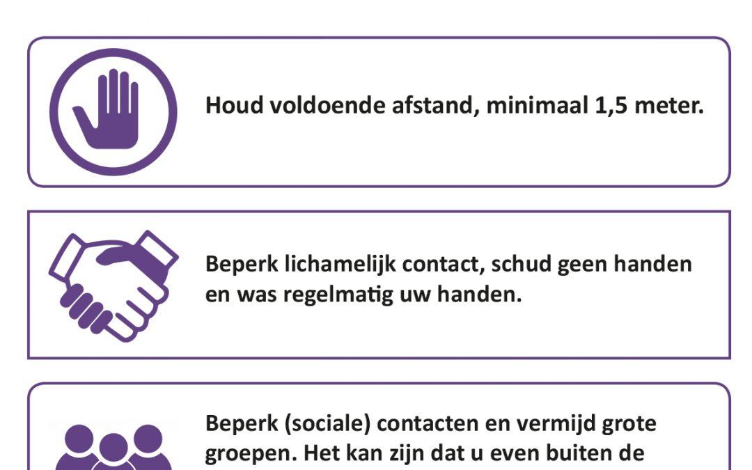 Overzicht van maatregelen coronavirus
